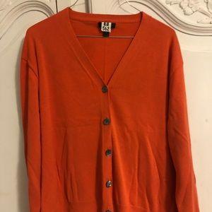 JCrew Orange Cardigan